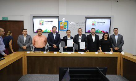EL MUNICIPIO DE GUADALUPE FIRMÓ UN CONVENIO CON EL INEGI PARA CREAR EL SISTEMA MUNICIPAL DE INFORMACIÓN.