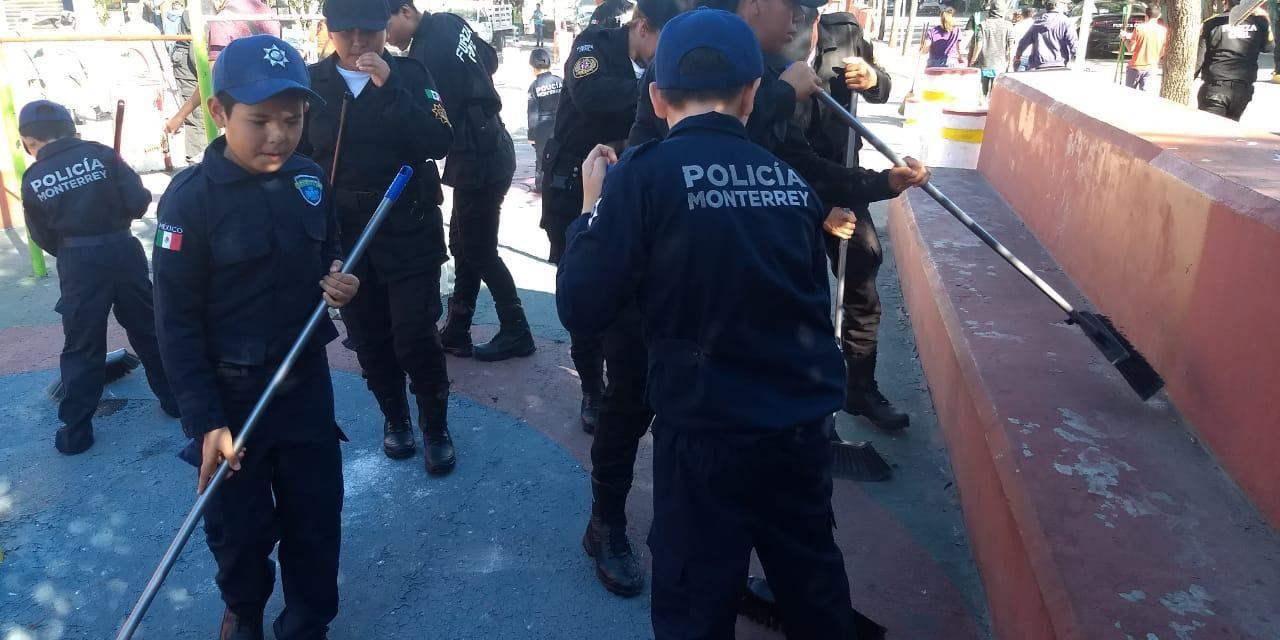 BRINDA MONTERREY PARTICIPACIÓN EN LA BRIGADA DE LIMPIEZA EN EL POLÍGONO EDISON