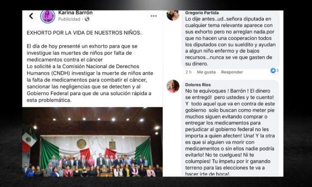 EL OPORTUNISMO POLÍTICO DE KARINA BARRÓN, TIENE HARTA A LA GENTE, EN SUS REDES SOCIALES LA INCREPAN, LEA USTED MISMO
