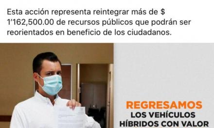 LUIS DONALDO COLOSIO DE MOVIMIENTO CIUDADANO DEVUELVE VEHÍCULOS ASIGNADOS A SU BANCADA POR CONSIDERAR QUE SON LUJOS INNECESARIOS, ANTES, LA BANCADA DE MORENA, LIDERADA POR RAMIRO GONZÁLEZ, HABÍA RECHAZADO ACEPTAR