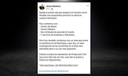 JESÚS RAMÍREZ, ALCALDE DE HIGUERAS, TIENE COMO PRIORIDAD LA SALUD DE LOS CIUDADANOS