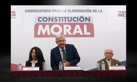 DA A CONOCER AMLO LA CONSTITUCIÓN MORAL, LA CUAL ESPERA SE CUMPLA ACORDE A LOS PRINCIPIOS DE LOS MEXICANOS