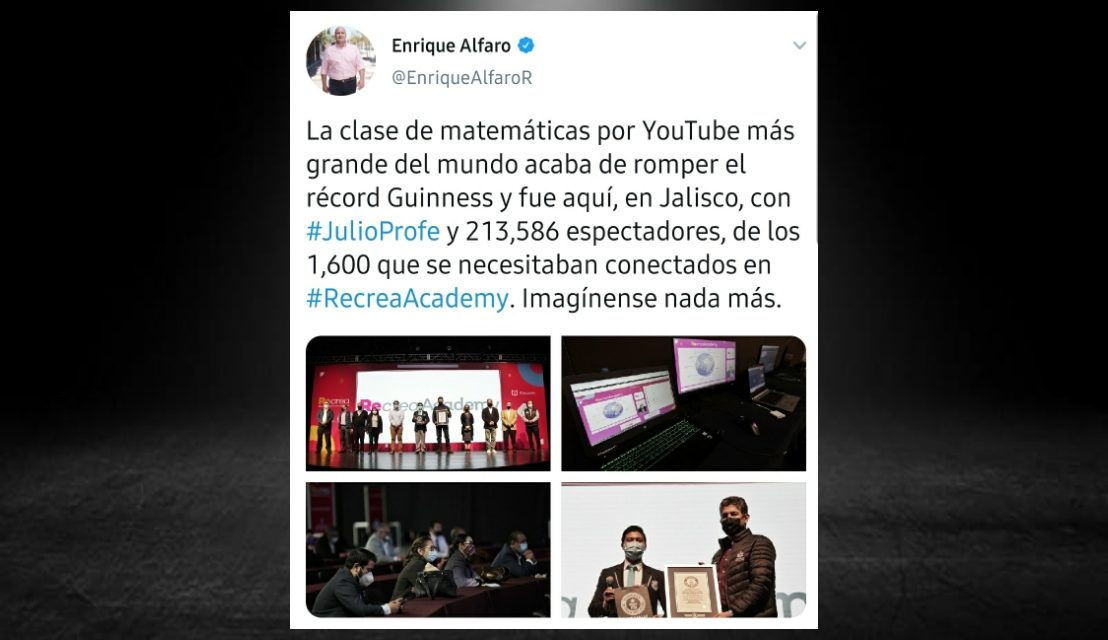 JULIO PROFE CONSIGUE RÉCORD GUINNESS