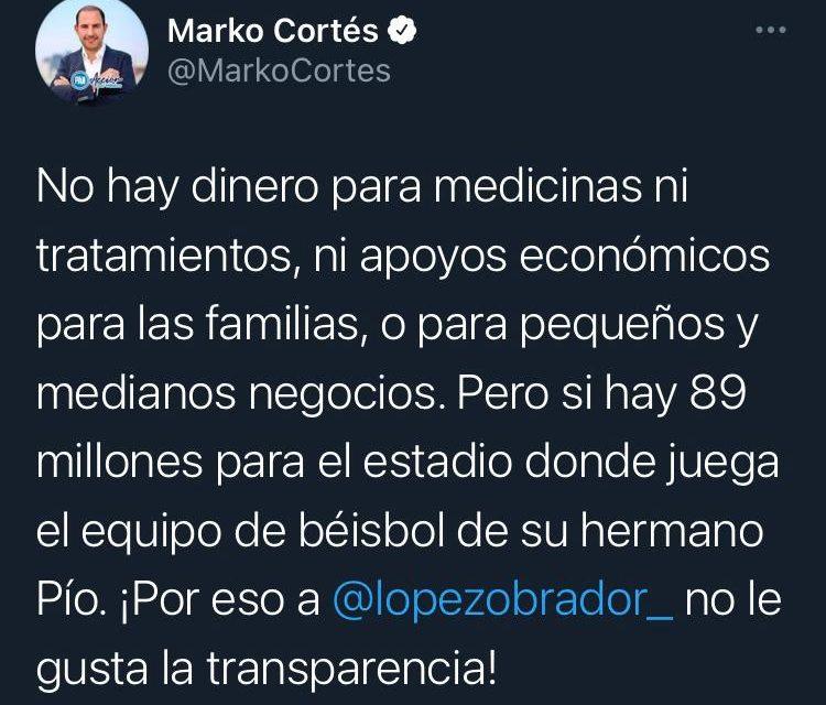 """LA 'GUERRILLA' DE MARKO CORTÉS CON EL PRESIDENTE Y MORENA SE INTENSIFICA DE CARA AL PROCESO ELECTORAL """"LA DISFUNCIÓN PÚBLICA"""""""