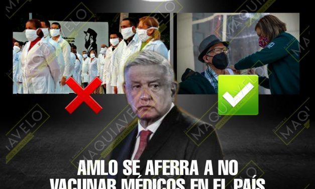 EL PRESIDENTE INSISTE QUE NO VACUNARÁ A LOS MÉDICOS PRIMERO QUE A TODOS LOS ADULTOS MAYORES <br>