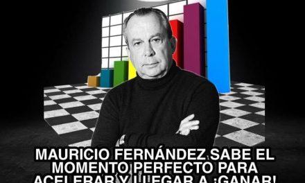 Mauricio Fernández Garza COMO LOS GRANDES EQUIPOS, ACELERARÁ EN SEGUNDO TIEMPO PARA GARANTIZAR SU TRIUNFO
